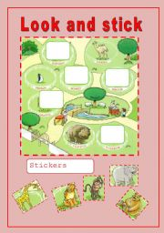 English Worksheets: Look and Stick