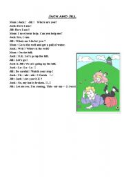 English Worksheet: Jack & Jill (Role play script)