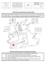 English Worksheet: English speaking countries