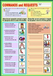 English Worksheet: Commands and Requests (classroom language)