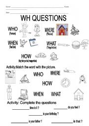 Wh Questions Esl Worksheet By Natsalvador Sounds Printable Worksheets Wh-Questions Wh Question Worksheets Printable #10