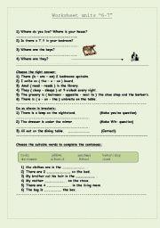 English Worksheets: Worksheet units �6-7�