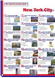 English Worksheet: New York City-Quiz
