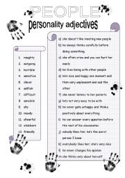 English Worksheet: Personality adjectives 2