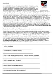 English Worksheets: corruption