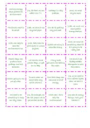 English Worksheets: Giving Advices and Suggestions memory Game