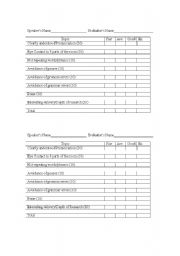 english teaching worksheets: assessment rubric, Powerpoint templates