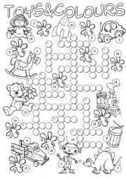 English Worksheet: Colours & Toys