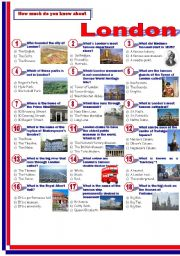 English Worksheet: London-Quiz