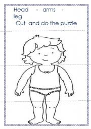 English Worksheets: PARTA OF THE BODY