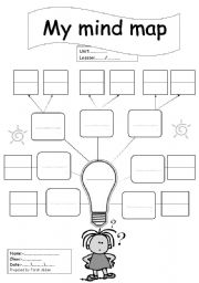 English Worksheet: blank mind map