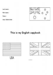 English Worksheets: The first page of the English copybook