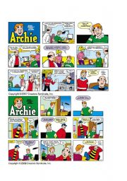 English Worksheet: Reading comics