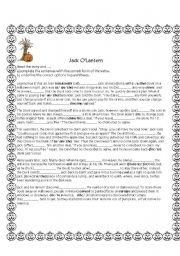 English Worksheets: Jack O�lantern