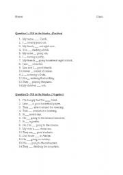 English Worksheet: am/is/are sentences & questions in positive and negative forms