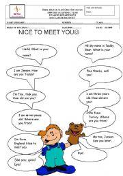English Worksheets: Greetings!!