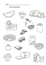 English Worksheet: Food - What�s healthy?