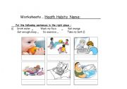 English Worksheets: good habits