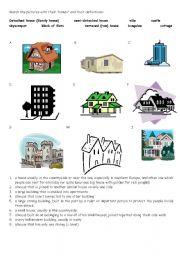 English Worksheet: Housing and Living