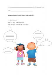 English Worksheets: Greetings worksheet