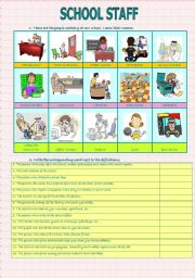 School Staff (3 pages- Key included)