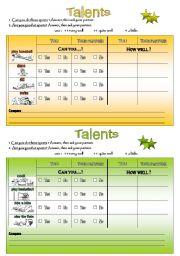 English Worksheets: Pairwork