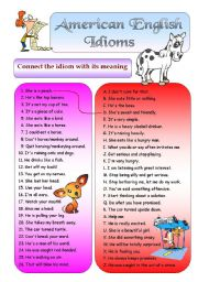 American English Idioms 1 (+ BW + Key)
