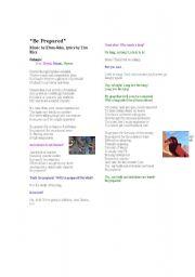 English Worksheets: Be Prepared