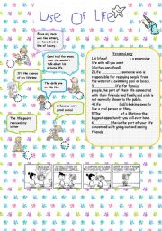 English Worksheets: Use of life