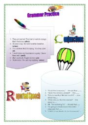 English Worksheets: Conjunctions & Reported Speech