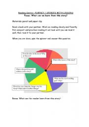 English Worksheets: Editable Reading Spinner - Stories with Lessons 2