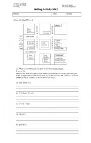 English Worksheet: Directions  Written Practice