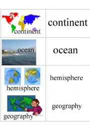 English Worksheets: Geography Words 1