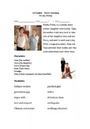 Freaky Friday - extended writing tasks for describing clothes