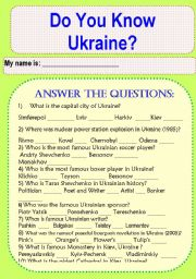 Do You Know Ukraine?