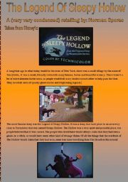 English Worksheet: The Legend of Sleepy Hollow (Halloween Lesson)