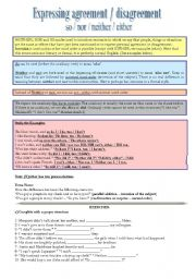 English Worksheet: Expressing agreement / disagreement