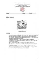 English Worksheets: a goodreference