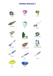 Silkadze 20 Inspiration Vocabulary Kitchen Tools List