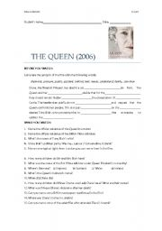 English Worksheets: The Queen (film worksheet)