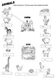 animals esl worksheet by daka3. Black Bedroom Furniture Sets. Home Design Ideas