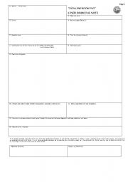 English Worksheets: bimco booking note