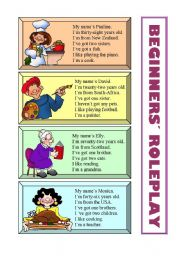 English Worksheet: Beginners� Roleplay (2 of 3)