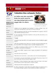 English Worksheets: Reading-Writing acrtivity 1 (KISSATHON)