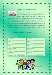 English Worksheet: Introducing yourself and a friend