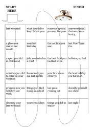 Past Simple Speaking Board Game