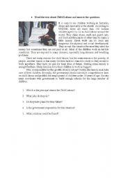English Worksheets: Child Labor