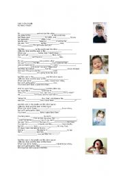 English Worksheets: cats in the cradle - conversation