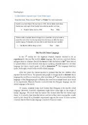 English worksheet: exercies