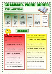 English Worksheet: Word Order Exercises